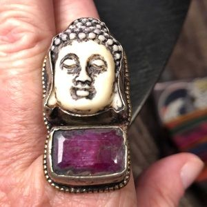 Incredible, unique Buddha ring! NWOT